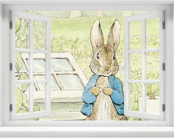 Window With A View Beatrix Potter Peter Rabbit In The Vegetable Patch Wall  Mural Part 53