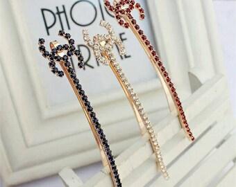 Fashion CC hair accessories/Designer Hair pins/clips for women/shiny Rhinestones hair pins