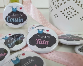 Badges Announces pregnancy, birth grandmother, grandfather, uncle, tata, etc...