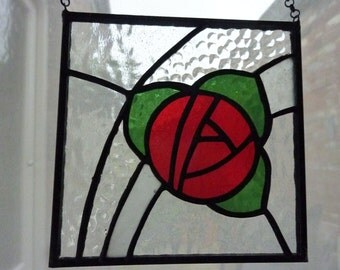 Stained glass small panel