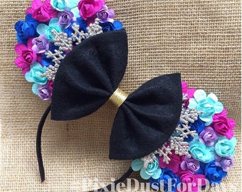 Princess Anna Inspired Mouse Ears, Ice Queen Mouse Ears