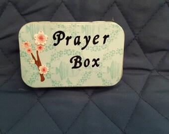 Altoids tin Prayer Box