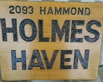 """Wood sign, 12"""" x 14"""""""