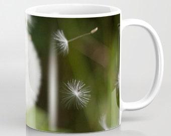 Dandelion Mug   Floral Mug   Large Mug   Flower Mug   Large Tea Mug   Large Coffee Mug   Art Mug   Unique Mug   Photo Mug   Green Mug