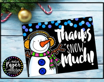 Snowman Thank You Notes: Notecards and Envelopes (20 Pack)