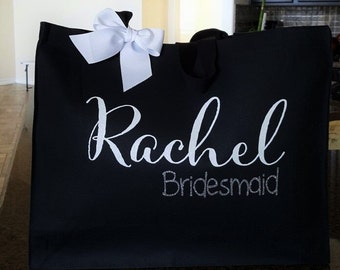 Bridal Tote, Bride Bag, Bridesmaid Tote,  Bridesmaid Bag, Personalized Tote, Custom Tote Bag, Canvas Tote, Team Bride, Tote Bag