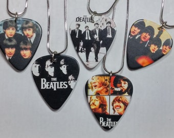 The beatles guitar pick necklace/guitar pick/the beatles/the beatles necklace/the beatles pendant/guitar necklace/beatles jewelry/beatles