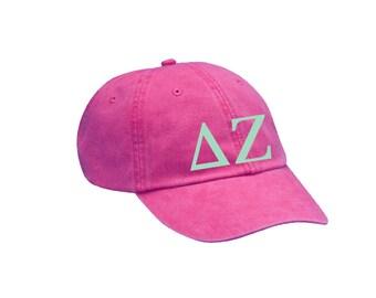 DZ Delta Zeta Letters Hat Choose Your Colors Sorority Hat