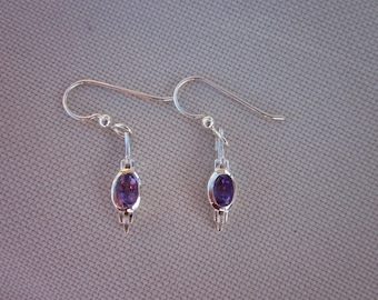 Amethyst & Sterling Silver Earring and Necklace Set   - #62