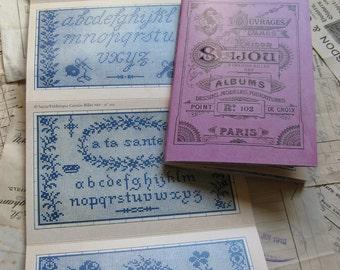 Sajou Mauve Cross Stitch Album 102- French Vintage Samplers