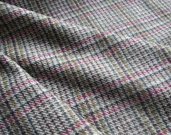 Scottish Tweed Wool Fabric- Estate Check- Nettle- By the Meter
