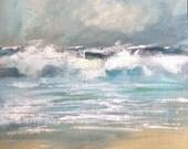 Rough cornish seas. Acryl...