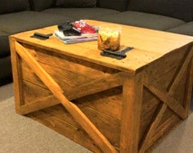 """Wooden storage trunk  ,steamer trunk  ,storage chest trunk ,solid trunk,large trunk ,coffee table, wood table, rustic table """"Dungeon Dwarfs"""""""
