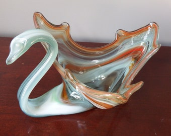 GLASS SWAN, MURANO Swan, Home Decor, Collectible Glass,