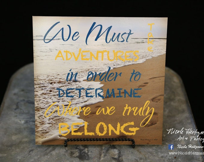 Beach Photography Beach print Beach quote Travel saying Beach Art Hawaii Photo by Nicole Heitzman