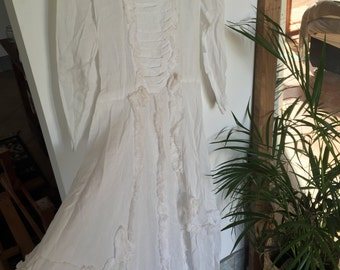 Vintage delicate cotton dress