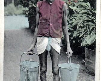 A Mali Gardener: Vintage India Postcard