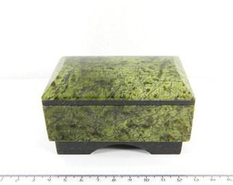 Green Serpentine stone box from Russia