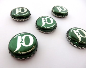 Magnets. J2O Bottle Tops (Set of 5) - Repurposed And Up-cycled Fruit Cool Fridge Magnet UK