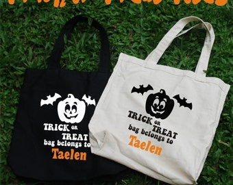 Trick or Treat Totes, Halloween Bag, Candy Bag, Halloween Candy Bag