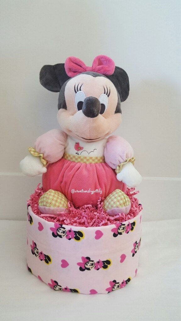 baby girl baby shower baby girl minnie mouse diaper cake baby