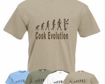 Evolution To Cook t-shirt Funny Cooking T-shirt sizes Sm TO 2XXL