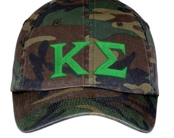 Kappa Sigma Lettered Camouflage Hat