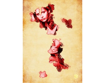 Buffy 'blood' A4 A3 A2 Poster Print