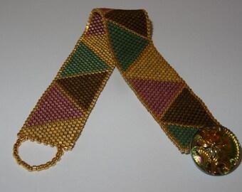 Fall Colors Peyote Triangle Bracelet