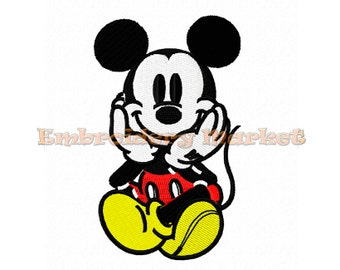 mickey mouse embroidery design 3 sizes Instant Download