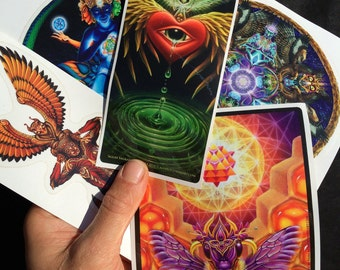 Psychedelic Visionary Sticker Pack by Vajra