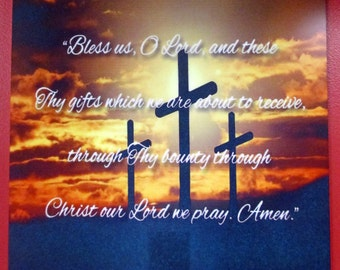 3 Crosses w/ Bible verse