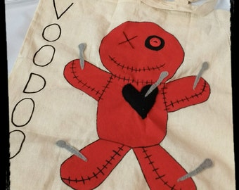Hand painted voodoo bag