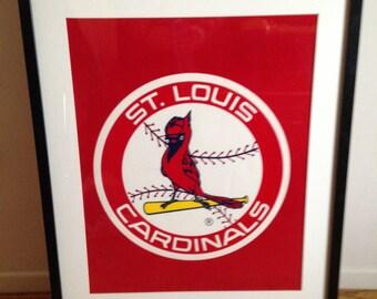 Vintage Felt St Louis Cardinals Poster