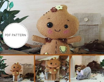 Cute Patch and Pocket Friends PDF Felt Pattern