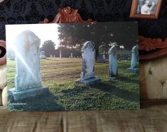 Graveyard Metallic mounted ready to hang print 20 x 30 in