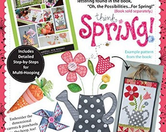 KimberBell Oh The Possibilities for Spring Companion Embroidery CD KD519