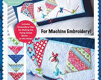 KimberBell Let's Go Fly a Kite! Bench Pillow CD for Machine Embroidery KD520