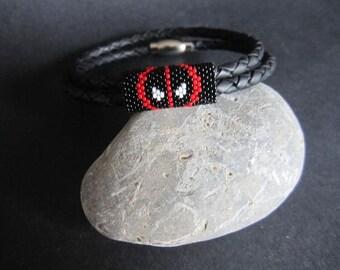 Leather Bracelet Deadpool