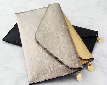 Personalised Metallic Clutch Bag