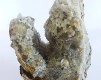 FLUORITE & ARAGONITE Crystals - Weardale UK - Natural mineral specimen LC26 eb C G