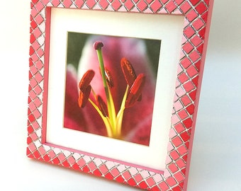 Mosaic Picture Frame | 3 Shades of Green | 3 Shades of Pink | Photo Frame