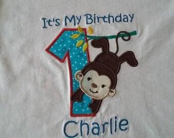 Birthday applique t-shirts