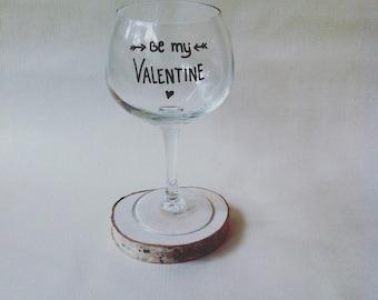 Valentine gin tonic glass