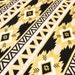 Gold Aztec Fabric - Metallic Gold, White, and Black Geomteric Print - Ideal for Baby Nursery and Home Decor Crafts by the Yard