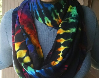 Tie-dyed Circular Infinity Scarf