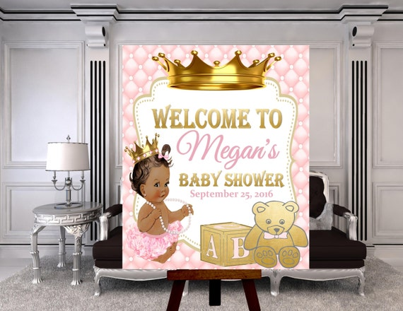 Digital File Royal Baby Welcome Poster Princess Baby