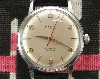 Kent Automatic Red Second Vintage Watch