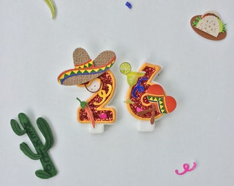 Fiesta birthday / fiesta birthday party / fiesta / cinco de mayo / cinco de mayo party / cinco de mayo decorations / birthday candles
