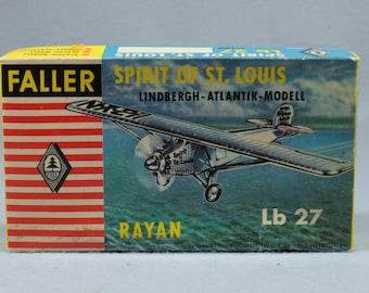 Faller Spirit of St. Louis Model kit. Unassembled